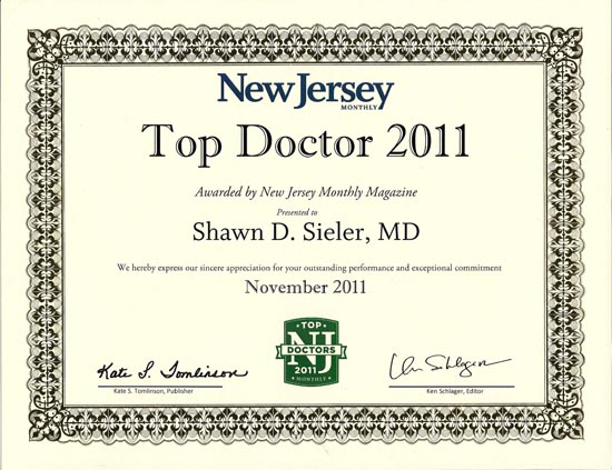 2011 Top Doctor - Shawn Sieler