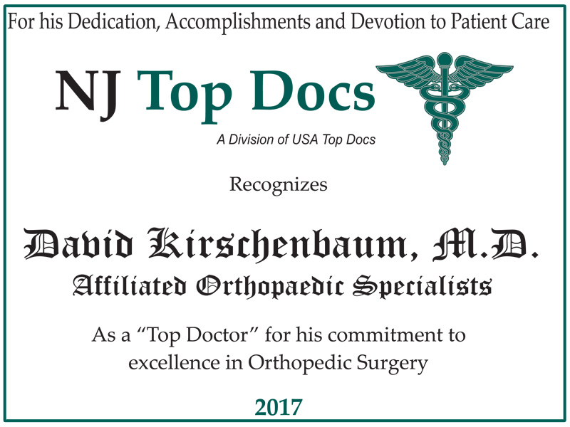 2017 NJ Top Doctor - David Kirschenbaum, MD