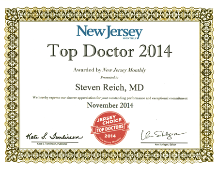 2014 Top Doctor - Reich
