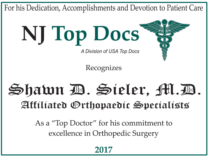 2017 NJ Top Doctor - Shawn Sieler